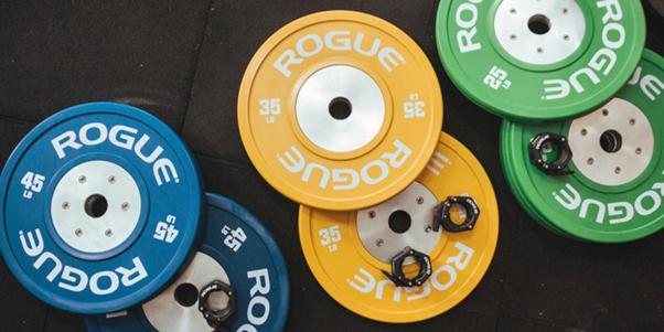 Weight plates put together with odourless glue
